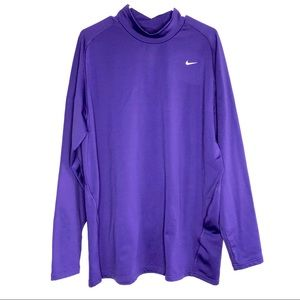 Nike men's dri-fit purple high neck thick shirt